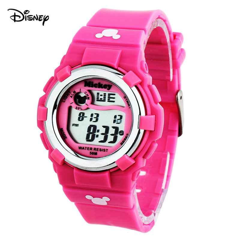 Colorful luminous waterproof electronic watches disney children watch girls watch children watch students watch