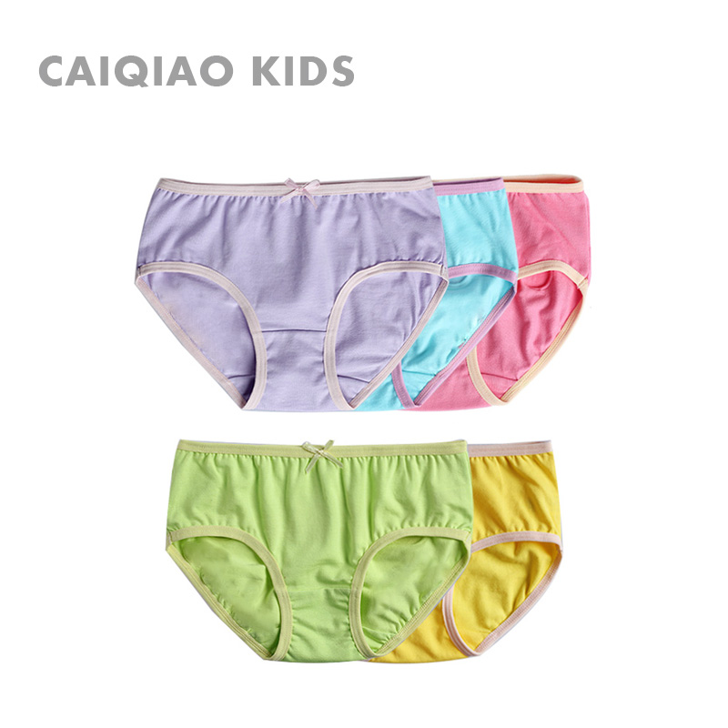 Colourful bridge children's underwear girls cotton pants girls cotton belts female big boy underwear briefs single article