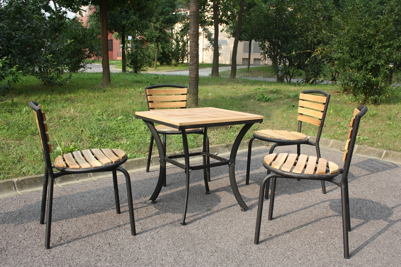 Combination of solid wood tables and chairs for outdoor wrought iron outdoor patio terrace cafe casual home with tables and chairs wujiantao