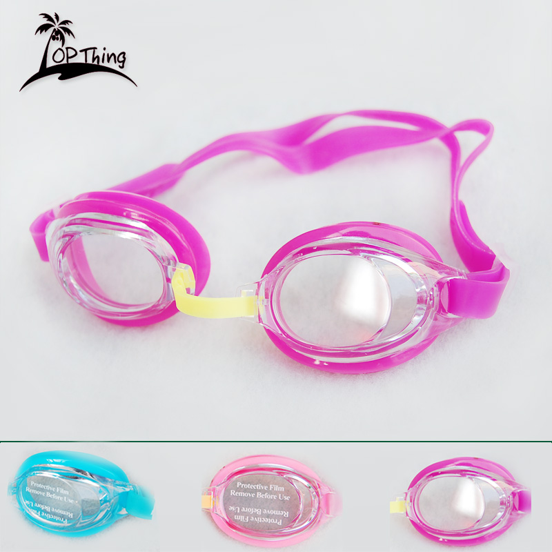 Comfortable silicone swimming goggles fogging waterproof children boys and girls swimming goggles