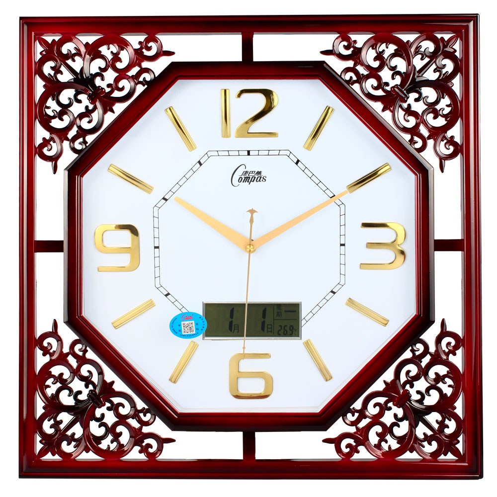 get quotations compas square retro chinese style living room hanging watches large living room wall clock quartz clock