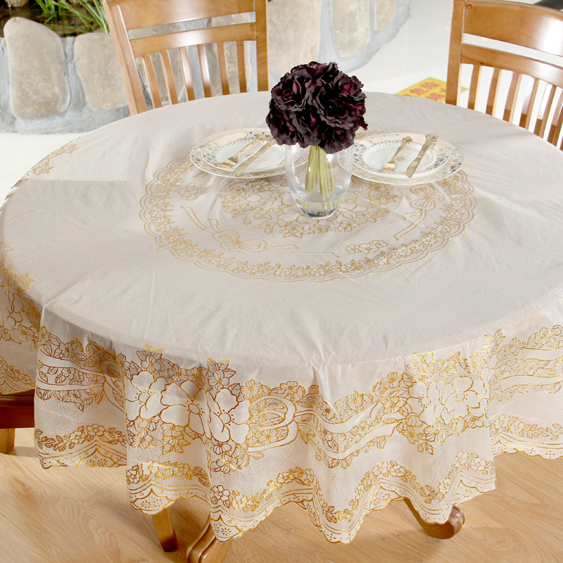 Continental gilt tablecloth round tablecloth round table tablecloth printed scalding water and oil repellency disposable table cloth tablecloth round table