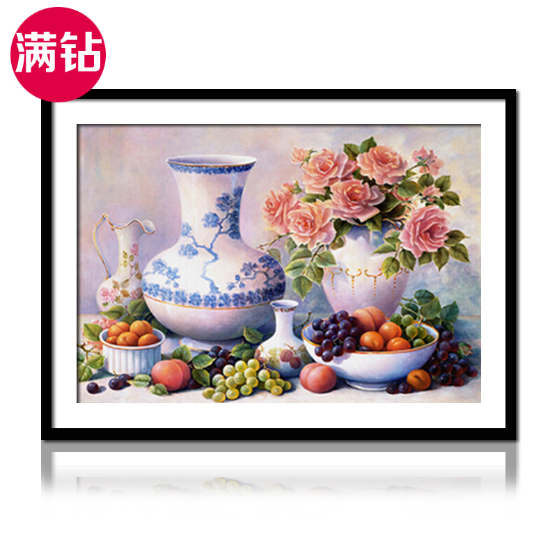 Continental restaurant fruit 5d diamond paste diamond stitch painting cube round diamond full diamond flower living room series diamond embroidery