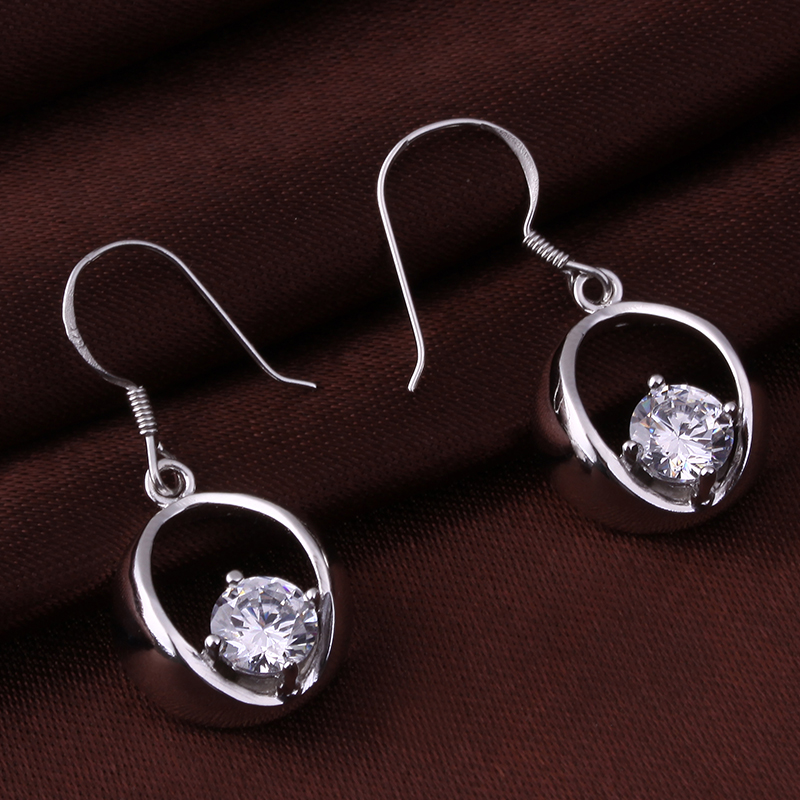 Cool borderies class 3a zircon sterling silver stud earrings silver earrings s925 sterling silver earrings female birthday gift to send his girlfriend shipping