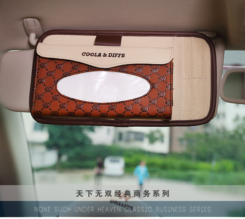 Cool latifi 2844 car sun visor car tissue box cover towel sets car tissue box imported fabrics
