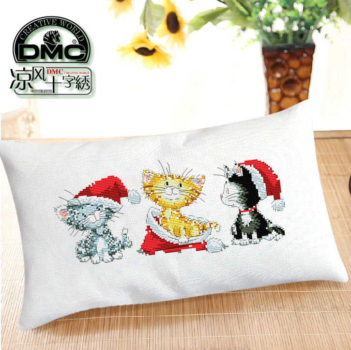 Cool stitch new living room cartoon KT3046 christmas kitty long pillow cushions
