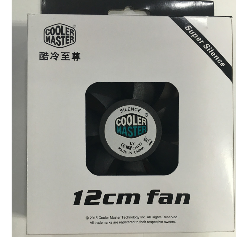 Cooler master/coolermaster级whirlwind cooler master chassis fan 12cm cm chassis fan black