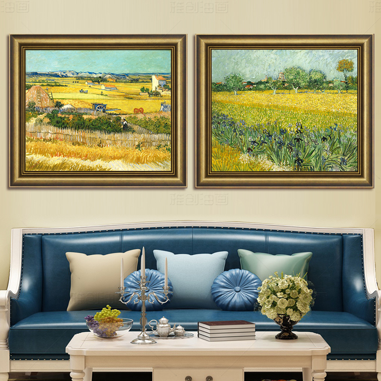 Copy of van gogh european decorative painting the living room framed painting pure hand painting hand painted wall painted bumper iris flower restaurant