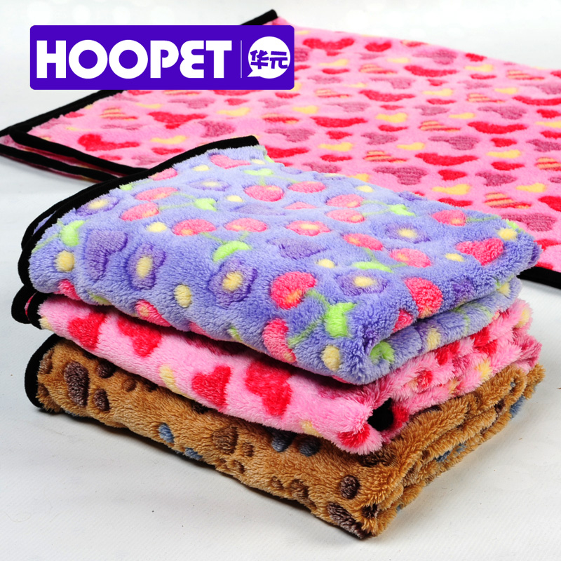 Coral fleece pet dog warm winter super soft mat dog quilt blankets towels air conditioning was blanket