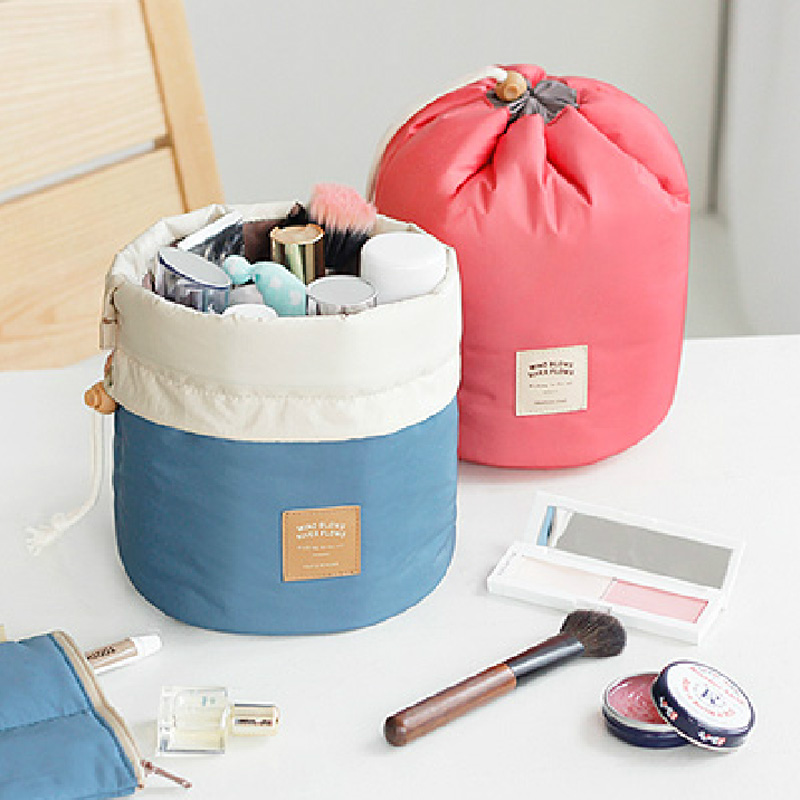 Cosmetic bag multifunctional layered cylindrical travel finishing bag large capacity wash bag waterproof cosmetic admission package