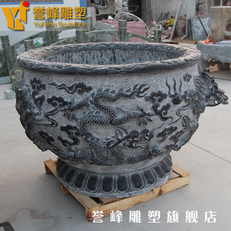 [Cosmos] antique sculpture dragon stone aquarium fish tank aquarium marble courtyard indoor craft ornaments