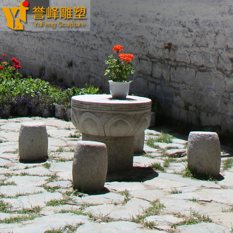 [Cosmos] courtyard danzhuoshideng sculpture garden danzhuoshideng marble natural stone table stone bench can be factory outlets