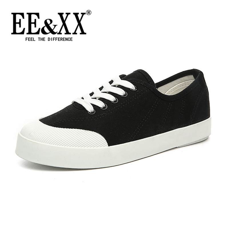 Counter genuine korean fashion rubber EEXX2016 lace solid color canvas shoes student shoes tide female 6513