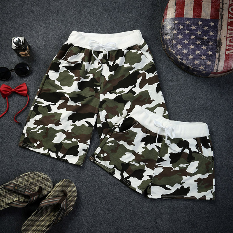 Couple beach pants male summer casual shorts pants five pants men tide sugan summer camouflage print pants pants influx of students