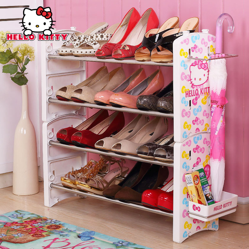 Court house hello kitty multilayer dust shoe shoe shoe rack storage rack shelving creative minimalist