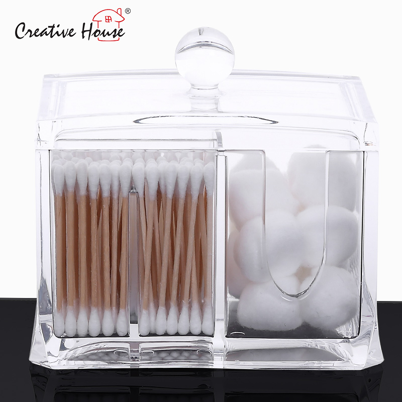 Court house transparent acrylic euclidian medical cotton swab box storage box desktop storage box toothpick