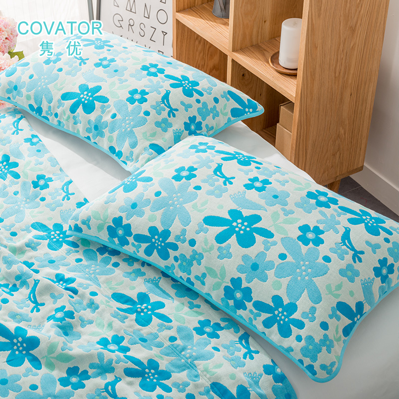 Covator gifted juan niaoyuhuaxiang wicking couple cotton pillow cotton gauze cotton pillow covers one pair of children