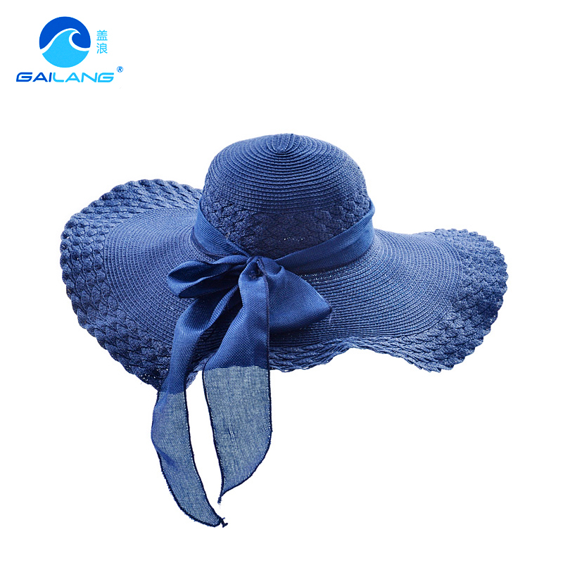 Cover waves sun visor hat female summer korean tidal beach hat sun hat sun hat female summer hat straw hat foldable