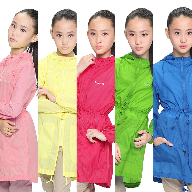 Cozy cat children's sun protection clothing girls summer breathable sun protection clothing sun protection clothing girls summer long section coat