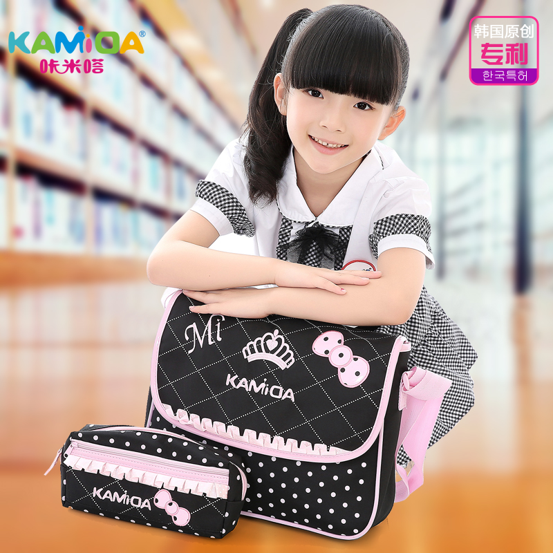 Cracking meters despair children messenger bag shoulder bag princess girls primary school tutoring bag cute