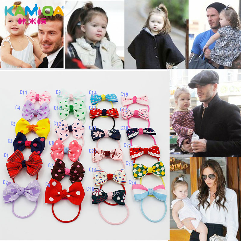 Cracking meters despair kamida children girls bow hair ring hair accessories baby hair ring hair jewelry tousheng rubber band