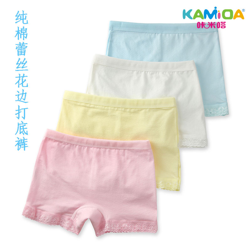 Cracking meters despair kamida girls lace safety pants female summer leggings safety pants boxer briefs underwear baby