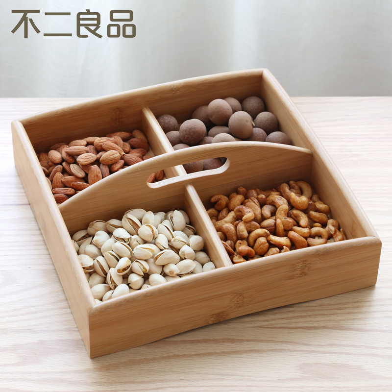 Creative candy box of dried fruit compote dish compartments snack tray tray european modern living room oval dish fruit plate home