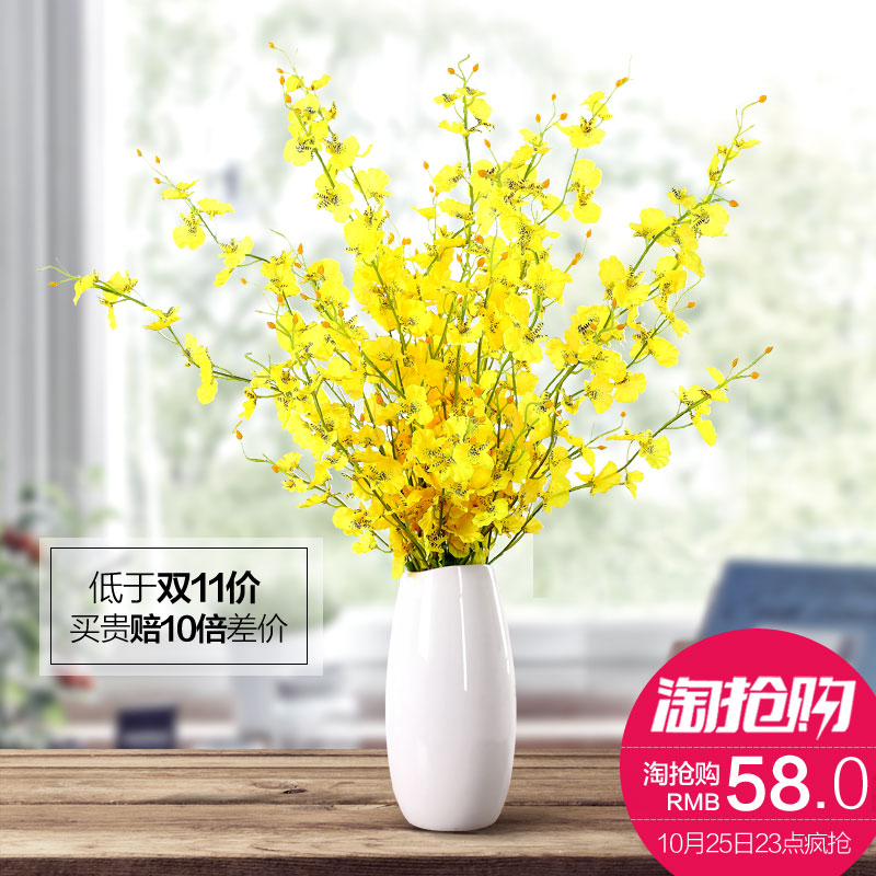 Creative fashion modern minimalist living room floor dried flower ornaments home decorations ceramic flower vase floral
