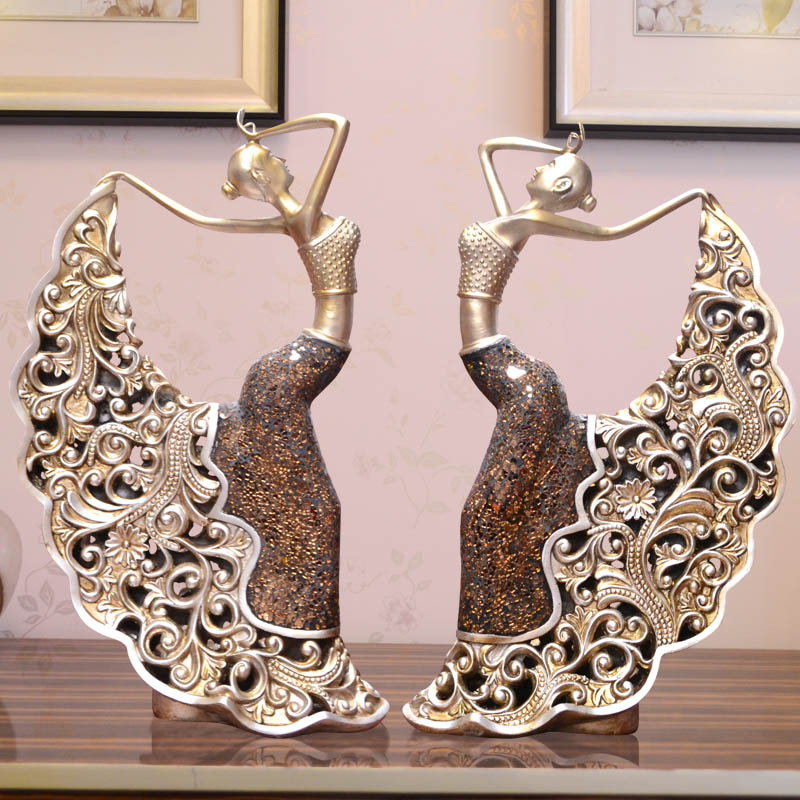 Creative home decoration figure living room decorative home accessories ornaments characteristic of dancers resin crafts furnishings