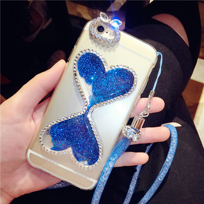 Creative hourglass mobile phone shell x3t vivo x3 x3l diamond mobile phone shell quicksand protective sleeve with lanyard influx of female models
