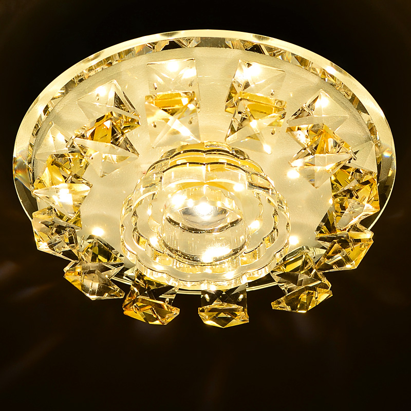 Creative modern led crystal aisle lights porch light corridor lights door dome ceiling lamp warm white palette g058