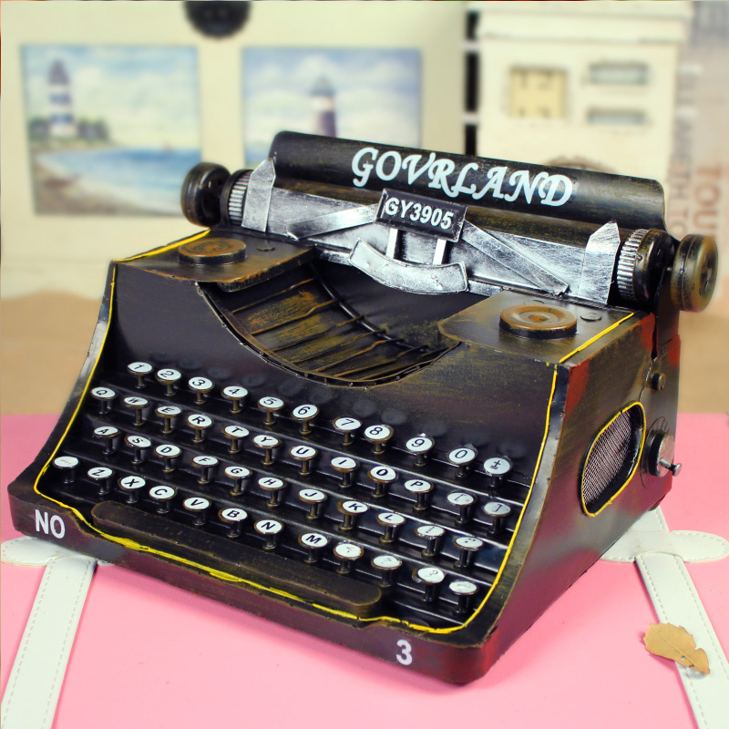 Creative ornaments retro bar cafe metal typewriter fine edition photography shop shop decoration crafts
