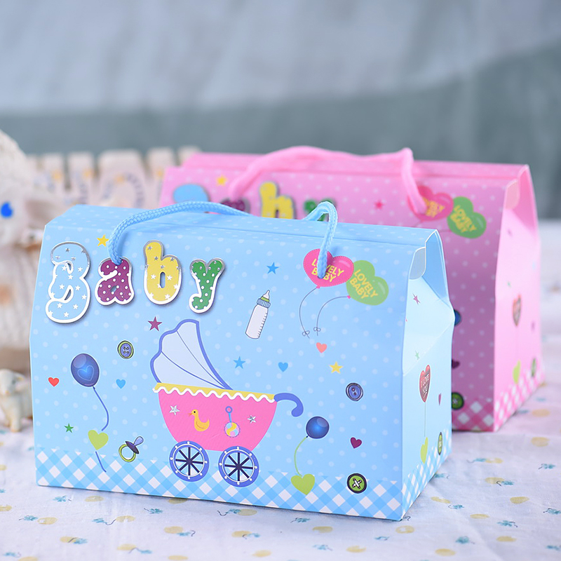Creative packaging candy box candy box baby favor bag gift box lovely baby full moon birthday gift