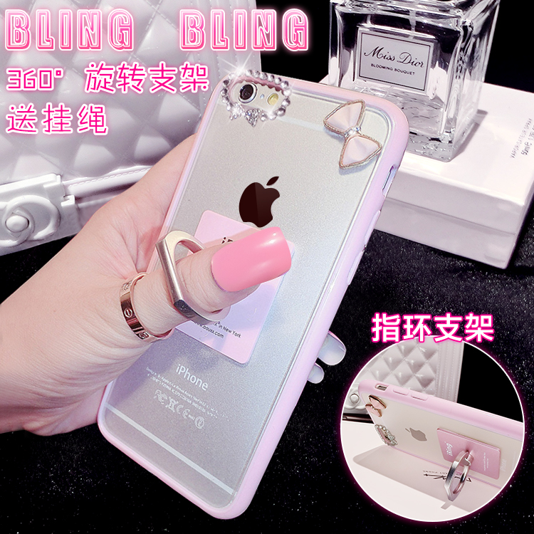 Creative ring ring buckle bracket iphone5c 5c mobile phone shell apple 4 protective sleeve diamond drill shell iph one4 female
