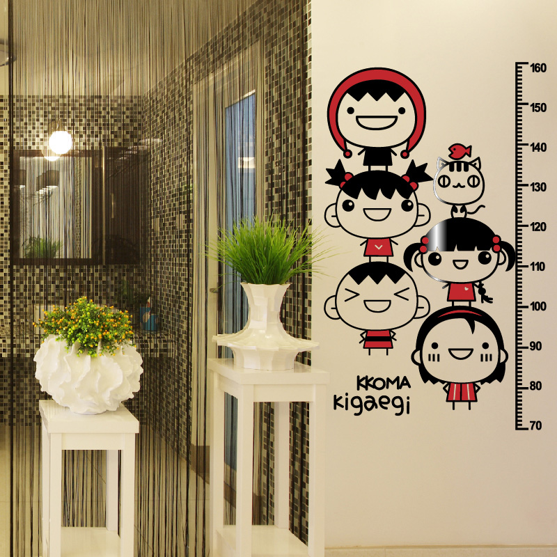 Creative stereoscopic 3d acrylic baby height wall stickers height stickers cartoon children's room furnished and young children park