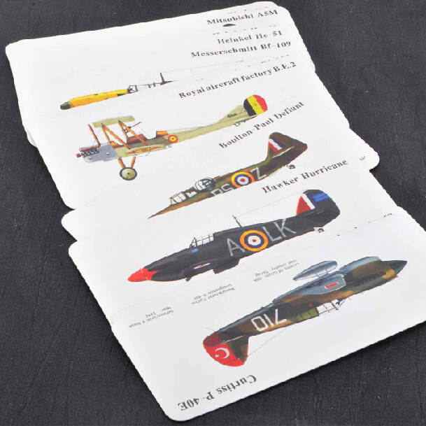 Creative vintage fighter aircraft military fans of classical paper bookmarks to send students practical stationery teachers' day ceremony goods 11 10å¼ loaded