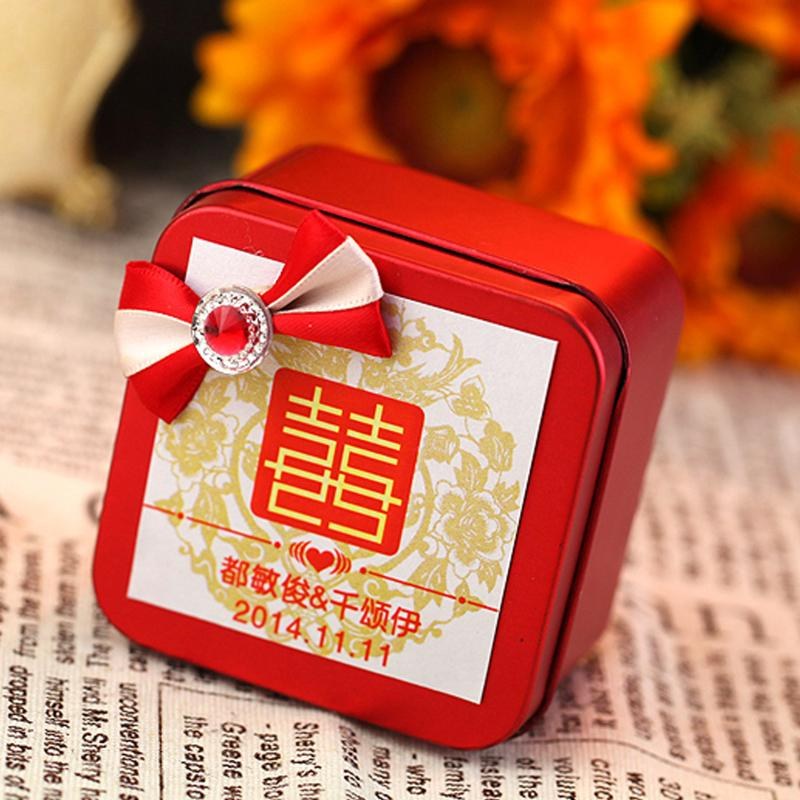 Creative wedding supplies wedding personalized wedding candy tin box tin candy box custom card box