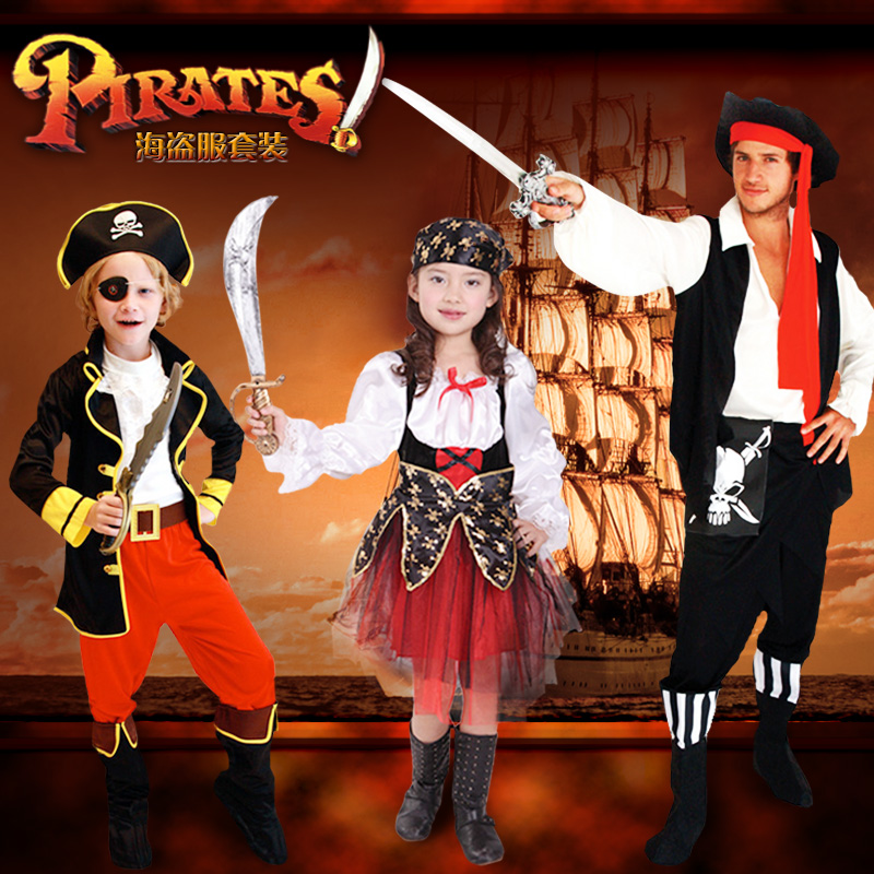 get quotations creepy square halloween performance clothing childrens day jia bile pirate costume pirate captain jack suit costumes