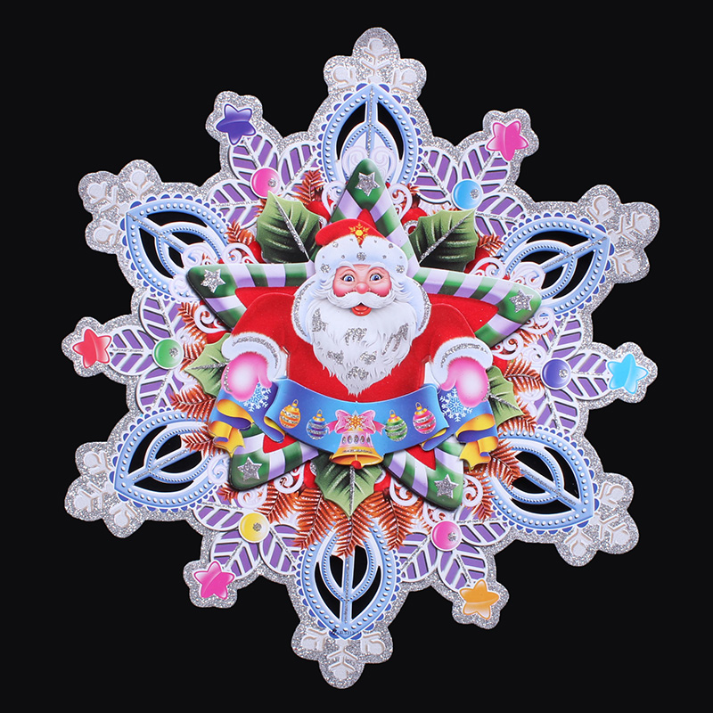 Creepy square klimts klimts sided three-dimensional christmas snowflake stickers for christmas decorations 70g