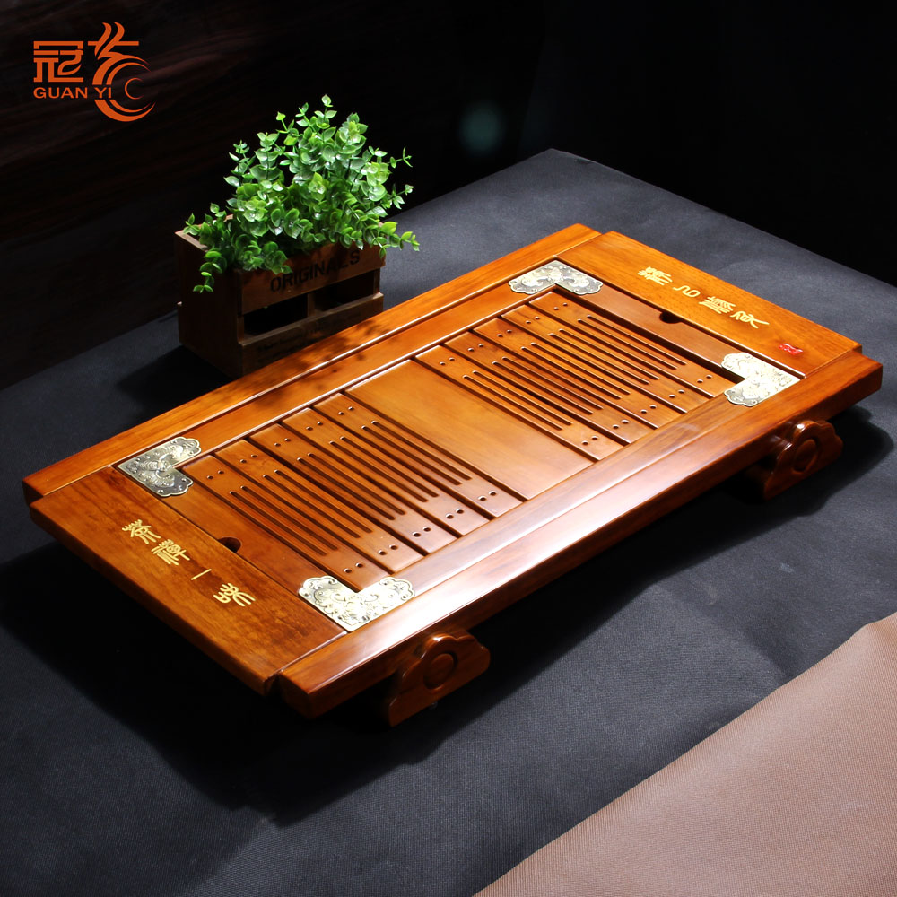 Crown arts and tea gift tea accessories tea tray ko muk wood kung fu tea tray wood tea tray kung fu tea sets tea sea