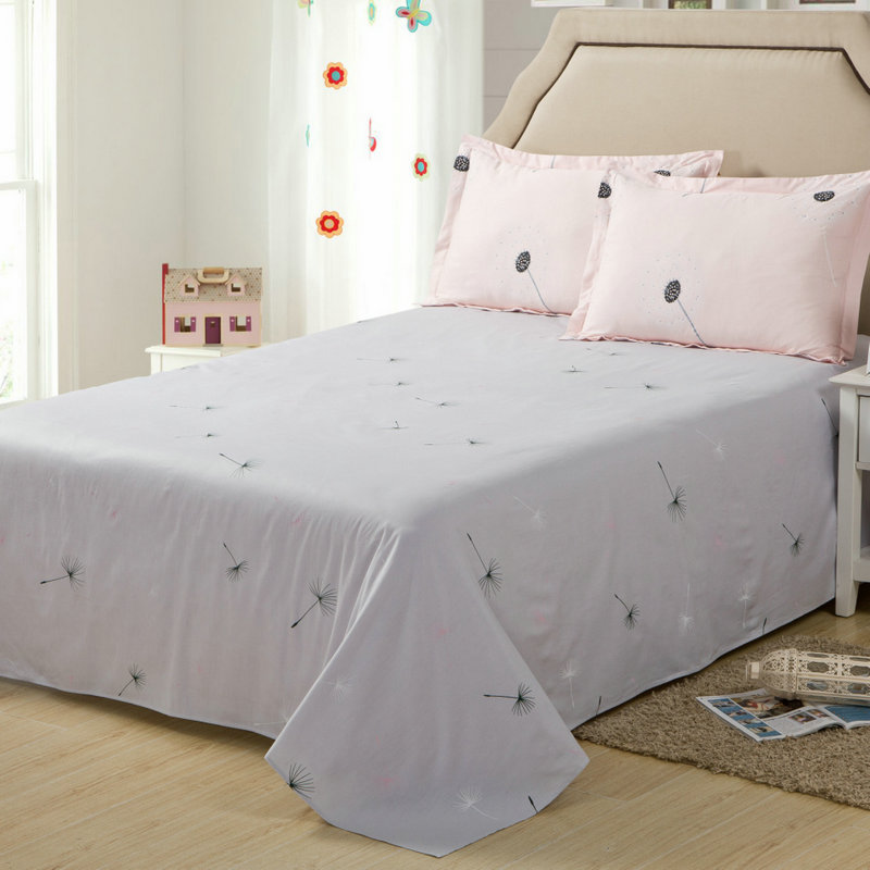 Crown court 1.2m1.5 student dormitory single piece of cotton bed linen single beds single or double sheets thick cotton cloth