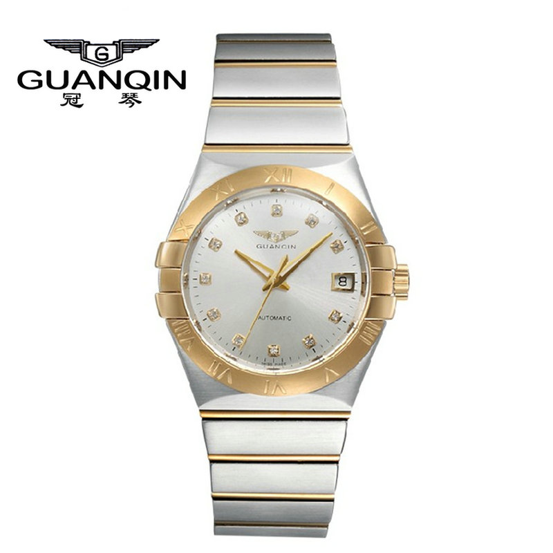Crown piano authentic upscale luxury automatic mechanical watches couple watch one pair of waterproof watches gold watch fashion table