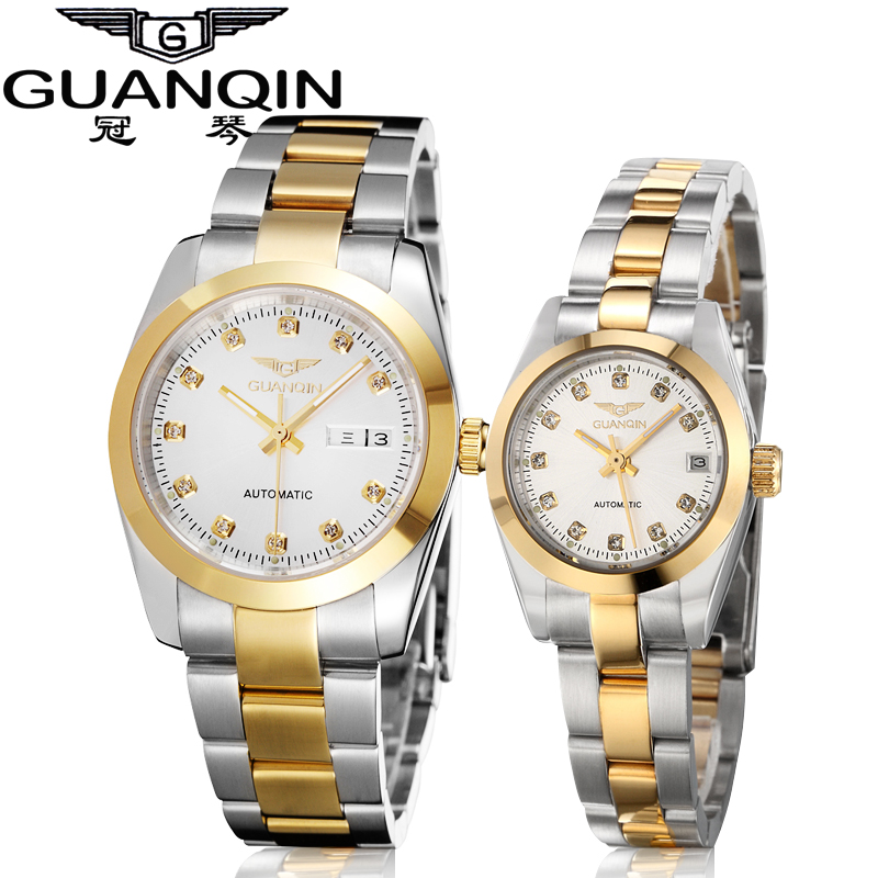 Crown piano authentic watches automatic mechanical watch lovers watch mechanical watch couple watch one pair of waterproof couple of tables