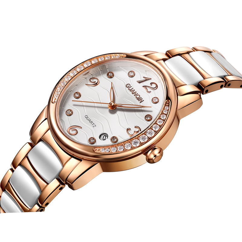 Crown piano authentic watches female table quartz watch diamond female models influx of women watch waterproof luminous ladies watch ceramic watch fashion