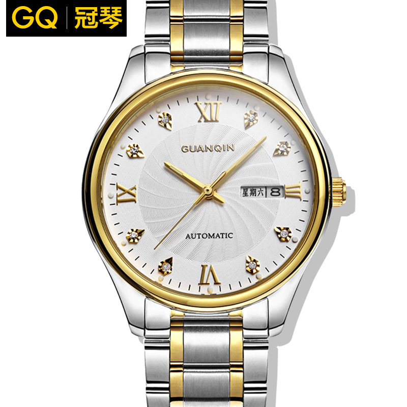 Crown piano automatic mechanical watches men watches men watch authentic steel waterproof hollow mechanical watches men