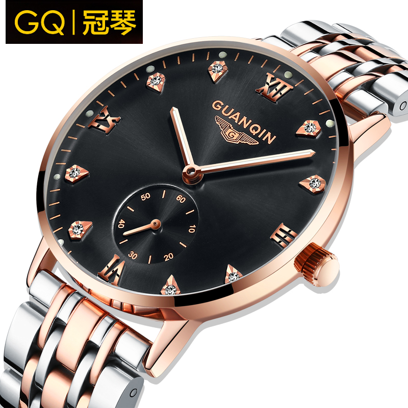 Crown piano thin stainless steel waterproof watch male table luminous automatic mechanical watches business casual watches men watch the tide