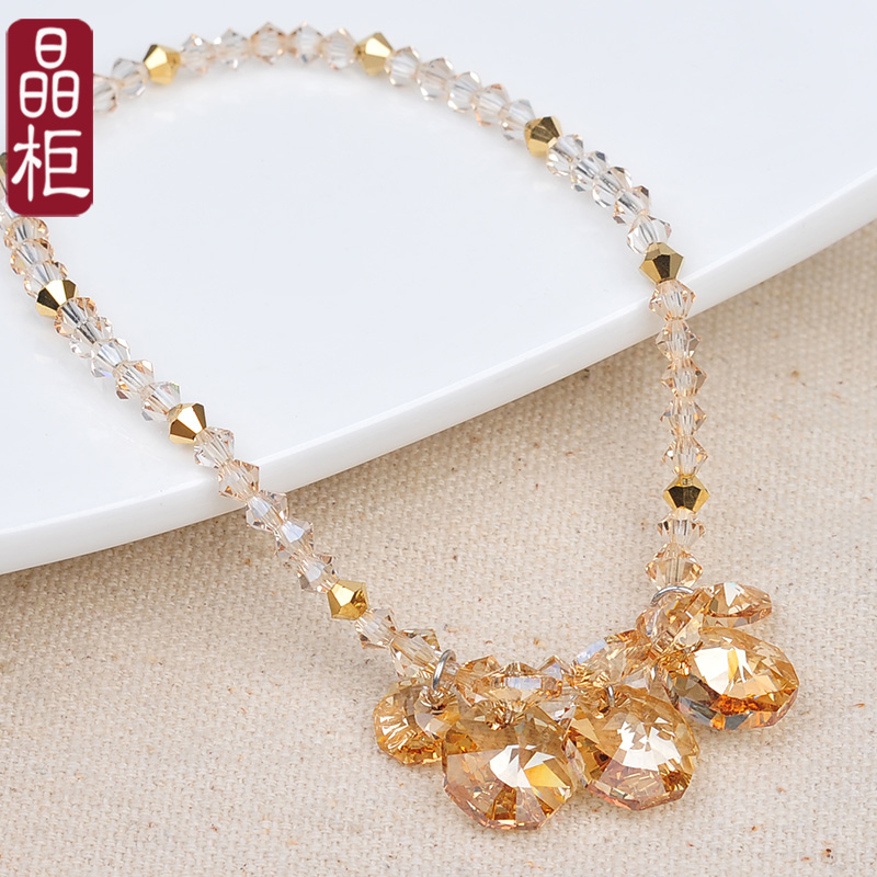 Crystal cabinet genuine bare foot chain jewelry crystal anklets female korean fashion simple and generous free shipping