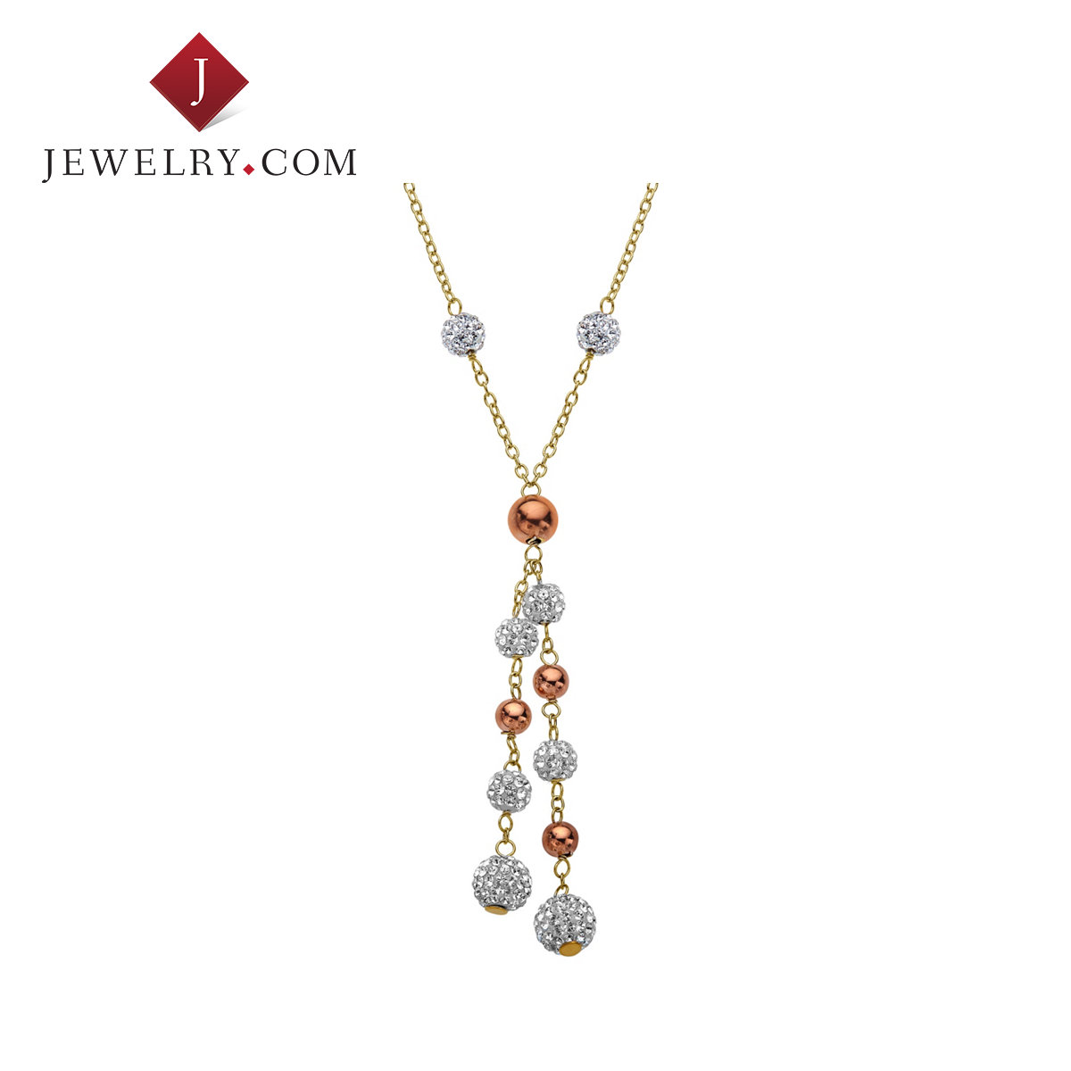 Crystaluxe yellow and pink k gold plated sterling silver inlaid swarovski crystal necklace female