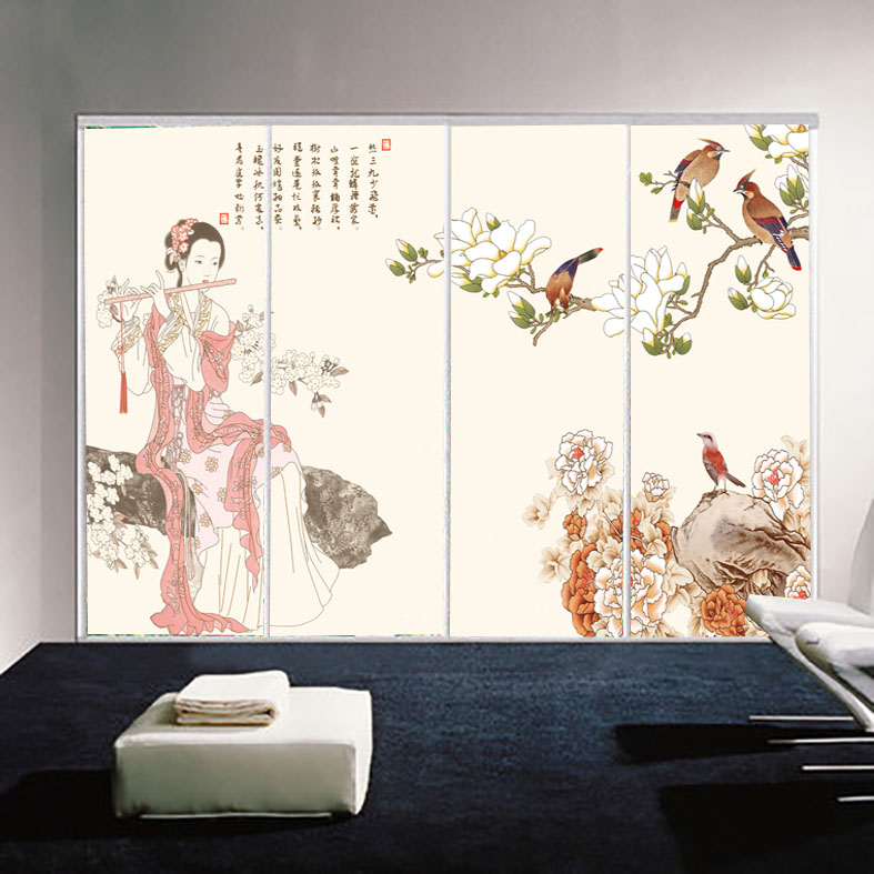 Custom closet sliding door stickers affixed klimts almirah film translucent frosted glass window stickers custom stickers beauty