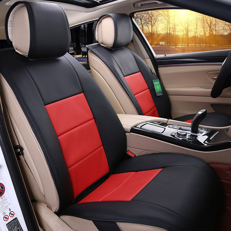 Custom four seasons general leather cushion leather car seat cover new and old volkswagen jetta sagitar touran bora